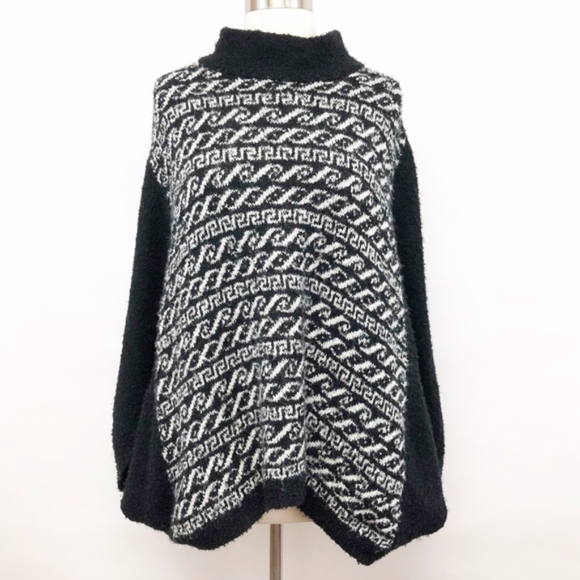 Free People Tops - free people | mock neck nanook sweater poncho sz M